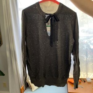 Gray Sweater with sequins never worn Michael Kors